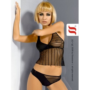 Ensemble sexy caracao et shorty Stripedtease top Obsessive