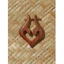 Boucles d oreilles en bois forme trybal